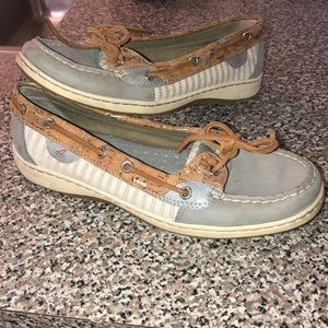 Sperry top sider shoes silver accents